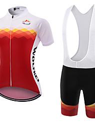 Esportivo Camisa com Bermuda Bretelle Mulheres Manga Curta MotoRespirável / Secagem Rápida / Á Prova-de-Pó / Vestível / Compressão /