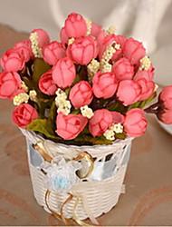 1 1 ענף פלסטיק / Others ורדים / צמחים / Others פרחים לשולחן פרחים מלאכותיים