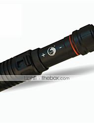 תאורה פנסי צלילה LED 1200LM Lumens 1 מצב קריס XM-L2 18650 מיקוד מתכוונן עמיד למים גודל קומפקטי צלילה/ שייט חוץ סגסוגת אלומניום