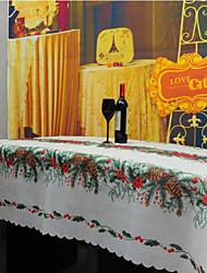 Carré Avec motifs Brodé Nappes de table , Mélange Lin/Coton Matériel Décorations de Noël 1