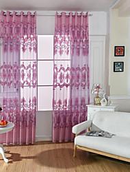 Jeden panel Window Léčba Evropský Obývací pokoj Polyester Materiál Sheer Záclony Shades Home dekorace For Okno