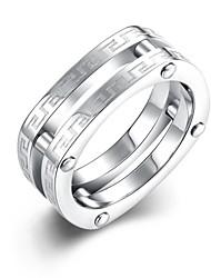 Anel Anel de noivado Aço Inoxidável Prata Chapeada Moda Prata Jóias Casamento Festa Diário Casual Esportes 1peça