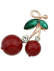 Nový cute třešeň drahokamu tvar brože šperky