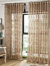 Um Painel Tratamento janela Europeu , Flor Sala de Estar Poliéster Material Sheer Curtains Shades Decoração para casa For Janela