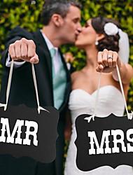 Papel Cartão Decorações do casamento-2piece / Set Não Personalizado
