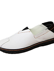 Men's Boat Shoes Fall Winter Comfort PU Casual Flat Heel Others Black Brown White