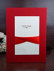 Nepřizpůsobeno Složený Svatební Pozvánky Pozvánky-35 Kusů v sadě Styl ženicha a nevěsty Perlový papír / Lepenkový papír Stuhy