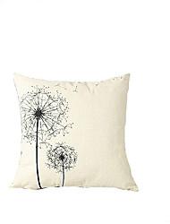 1 ks Bavlna / Lněný Povlak na polštář,Květinový Módní a moderní