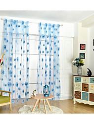 Um Painel Tratamento janela Moderno , Flor Quarto das Crianças Poli/Mistura de Algodão Material Sheer Curtains Shades Decoração para casa