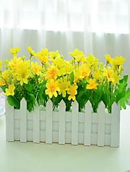 1 1 ענף פלסטיק / Others סחלבים פרחים לשולחן פרחים מלאכותיים