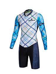 Esportivo Camisa com Shorts para Ciclismo Homens Manga Comprida MotoRespirável / Secagem Rápida / Zíper Frontal / Vestível / Alta