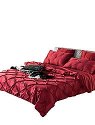 Jednolitý Povlečení 6 kusů Bavlna / Směs hedvábí a bavlny Jednobarevné Ruční výroba Bavlna / Směs hedvábí a bavlny Queen1 ks volné