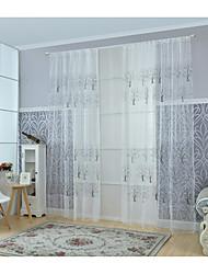 Um Painel Tratamento janela Moderno Sala de Estar Poli/Mistura de Algodão Material Sheer Curtains Shades Decoração para casa For Janela
