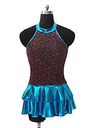 Dança Latina Vestidos Mulheres / Crianças Actuação Nailon / Lantejoulas / Licra / Metal Lantejoulas 1 Peça Sem Mangas Vestidos