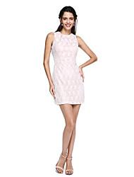 ts couture® prom cocktail dress - mini me bainha / coluna jóia Short / Mini laço