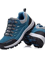 Women's Athletic Shoes Spring Fall Comfort Tulle Outdoor Flat Heel Lace-up Blue Purple Red Hiking