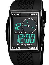 Men's Sport Watch Fashion Watch Wrist watch Digital Watch LED Water Resistant / Water Proof Dual Time Zones Alarm Digital Rubber BandCool