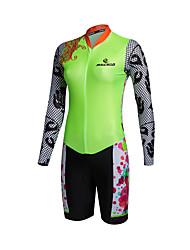 Esportivo Camisa com Shorts para Ciclismo Mulheres Manga Comprida MotoRespirável / Secagem Rápida / Zíper Frontal / Vestível / Alta
