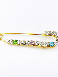 Women's Brooches Rhinestone Peacock Gold Golden Jewelry Daily Casual