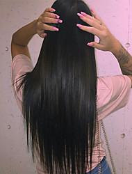 משי אמיתי טבעי 8-24 אינץ '100% ההודי רמי שיער אנושי תחרה הקדמי / מלא פאה