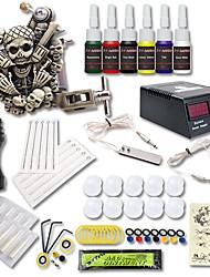 1xMáquina Tatuagem de ferro fundido para linhas e sombras LCD de alimentação 5 x agulha de tatuagem RL 3 / 5 x agulha de tatuagem  M1 5 1