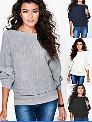 ebay wens amazon herfst en winter mode losse vleermuis mouw lange mouw draad