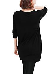2016 novas mulheres&# 39; s Eday aliexpress comércio exterior em mulheres longa seção de mangas compridas&# 39; s t-shirt cor de