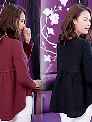 tecken # 2016 Hitz långärmad t-shirt kvinnliga koreanska varven stygn bottnar skjortan