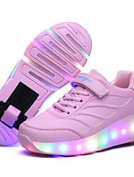לבנים-נעלי ספורט-עור-נוחות-שחור כחול ורוד-שטח יומיומי ספורט-עקב נמוך