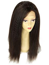 여성을위한 아기 머리 글루리스 레이스 가발와 처리되지 않은 180% 고밀도 변태 직선 처녀 브라질 사람의 모발 자연 색상 전체 레이스 가발