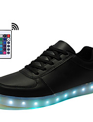 LED Light Up Shoes Unisex Running Shoes Remote Control LED Sneakers Light Up Shoes Synthetic Casual LED Lace-up Black White