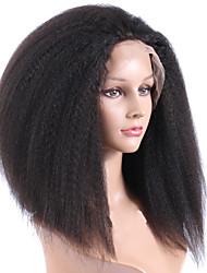 패션 가발 십사인치 직선 전체 레이스 가발 100 % 인간의 머리 브라질 머리 레이스 가발을 흑인 여성을위한 130 % 밀도를 무료로 부품 글루리스 가발을 변태
