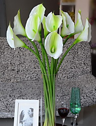 Set of 1 PCS 1 ענף פוליאסטר חבצלות (קלה לילי) פרחים לשולחן פרחים מלאכותיים 28
