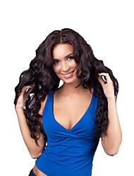 10A 8-26inch 글루리스 레이스 프런트 가발 여성을위한 천연 블랙 컬러 브라질 인간의 머리 레이스 가발 곱슬
