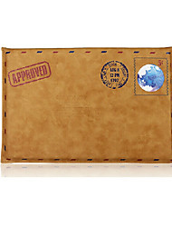 De Macbook Air pro simples lazer estilo retro envelope saco do caderno cor sólida sleeves pu 11,6 luva universais