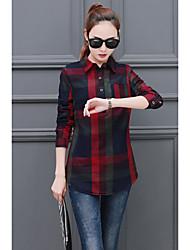 2017 våren nya koreanska mode pläd långärmad skjorta och långa skjortan skjorta kvinnor&# 39; s våren tidvattnet våren modeller