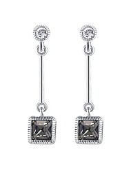 Drop Earrings European Fashion Sterling Silver Silver Jewelry For Daily Casual 1 pair