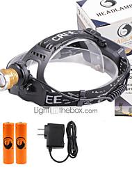 פנסי ראש LED 3000 Lumens 4 מצב Cree XP-E R2 18650 מיקוד מתכוונן גודל קומפקטי מזויפים גלאימחנאות/צעידות/טיולי מערות שימוש יומיומי רכיבה על
