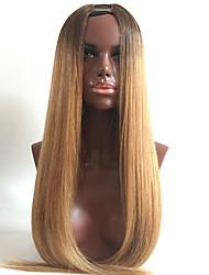 8-26 인치 저렴한 실제 레미 인도 처녀 인간의 머리카락 금발의 옹 브르 부드러운 직선 짧은 표백 된 매듭 레이스 정면 U 부분 가발 인간의 머리 행복 가발