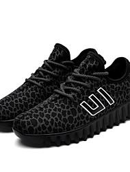 גברים-נעלי ספורט-בד-נוחות סוליות מוארות-שחור חום אדום לבן שחור-שטח יומיומי ספורט-עקב שטוח
