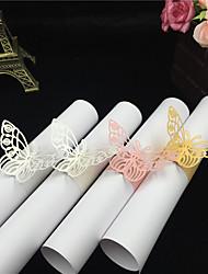 Papel papelão Guardanapos de casamento Peça/ Conjunto anéis de guardanapo