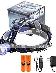 פנסי ראש LED 2000 Lumens 3 מצב Cree XM-L T6 18650 מיקוד מתכוונן גודל קומפקטימחנאות/צעידות/טיולי מערות שימוש יומיומי רכיבה על אופניים רב