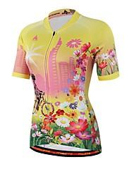 Miloto Camisa para Ciclismo Unissexo Manga Curta Moto Materiais Leves Redutor de Suor Camisa/Roupas Para Esporte CoolmaxPrimavera Verão