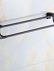 Wall Ranging  Towel Racks & Holders Modern Rectangle Brass