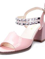 Sandálias-Conforto-Rasteiro-Azul Rosa Branco-Couro Ecológico-Casual
