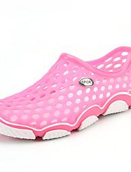 Sandálias-Conforto Solados com Luzes Buraco Shoes-Rasteiro-Rosa-Materiais Customizados-Ar-Livre Casual