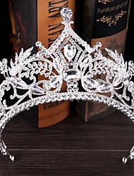 라인석 합금 투구-웨딩 왕관 1개