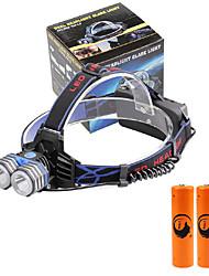 פנסי ראש LED 4000 Lumens 3 מצב Cree XM-L T6 18650 גודל קומפקטי חירום אספקת חשמל ניידתמחנאות/צעידות/טיולי מערות שימוש יומיומי רכיבה על