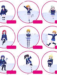 Anime Toimintahahmot Innoittamana Rakkaus Elää Cosplay PVC 7 CM Malli lelut Doll Toy