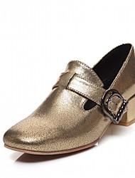 Women's Heels Spring Fall Comfort Leatherette Office & Career Dress Casual Chunky Heel Block Heel Gold Black